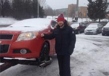 scrap car winter